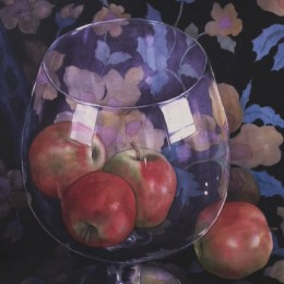 Pam Sackville Apples Through Glass 2014