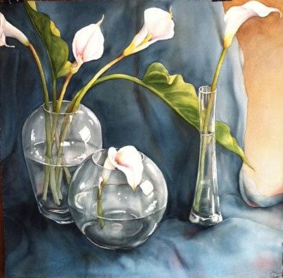 Arums Through Glass 2014 75x75