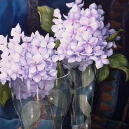 Sam Sackville Hydrangeas Through Glass 2014