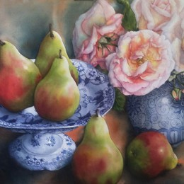 Pam Sackville Pears and Roses 2012